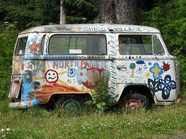 picture of shortened VW bus