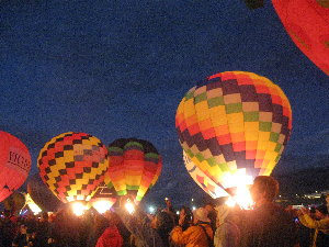 pic of three glowing balloons