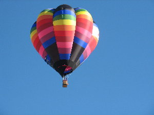 pic of multi-colored balloon