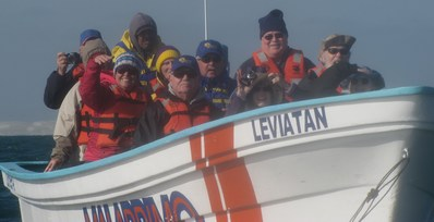 pic of tour members in whale boat