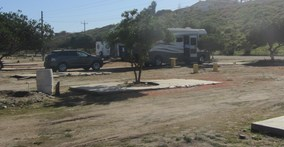 pic of RV in Mexican RV park