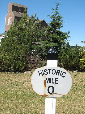 picture of Mile 0 milepost
