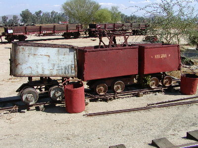 picture of old mining cars