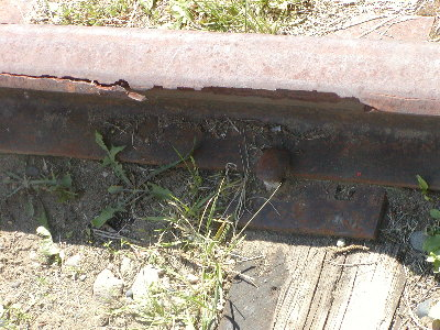 picture of old worn rail track