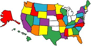 map of states visited